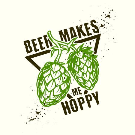 Hop beer design Illustration