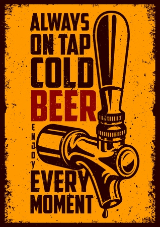 Beer tap with advertising quote Banco de Imagens - 98621199