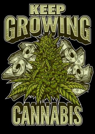 Marihuana colour poster