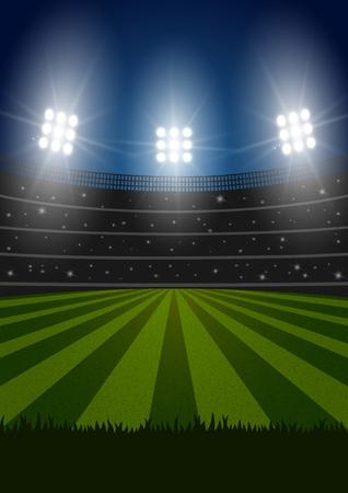 Voetbal vector stadion Stock Illustratie