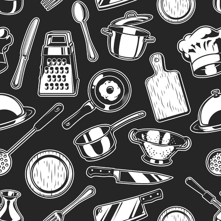 Seamless cooking background Vector illustration.