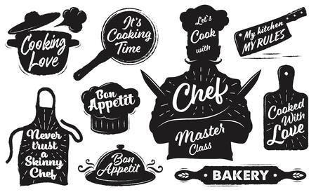 Set of emblems Illustration