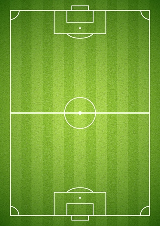 Soccer green field empty with grass texture. Vector illustration.