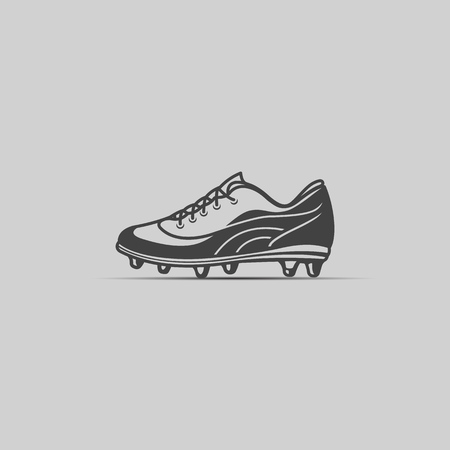 Soccer boot icon in gray colour. Vector illustration