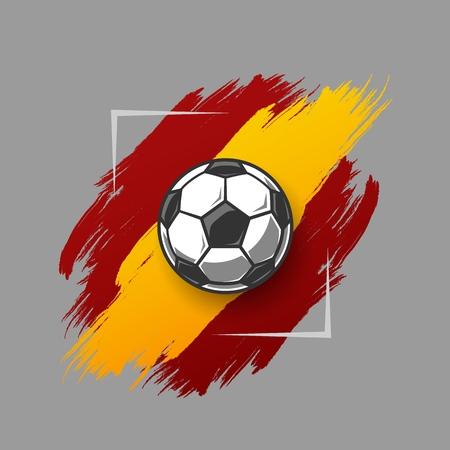 Soccer ball on grunge