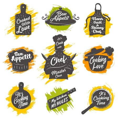 Set of cooking emblem Standard-Bild - 101088988