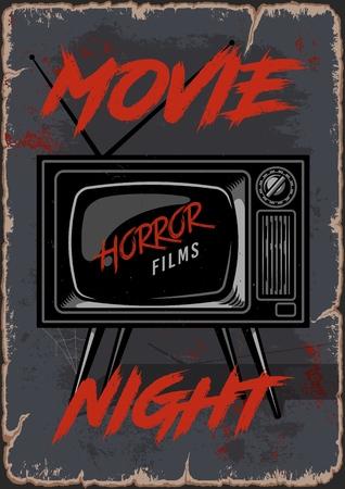 Retro TV cinema poster