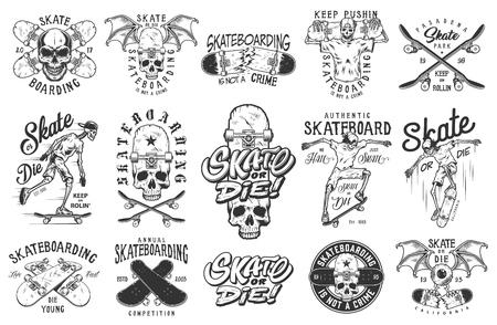 Set of emblems  イラスト・ベクター素材