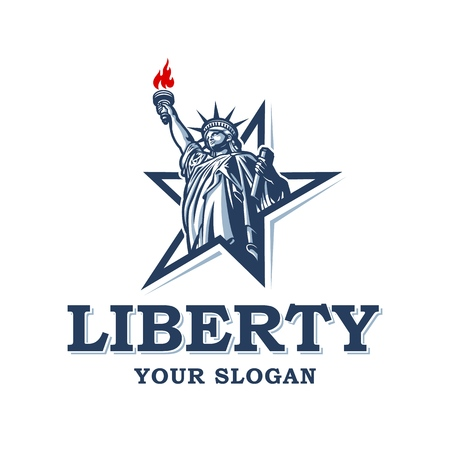 Emblem with statue of liberty 免版税图像 - 101286507