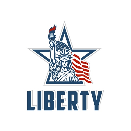 Emblem with statue of liberty