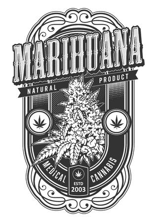 Vektor-Banner für die Legalisierung von Marihuana