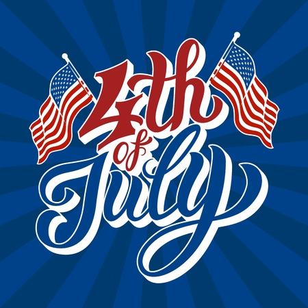 Happy 4th of July - Independence Day Standard-Bild - 101448918