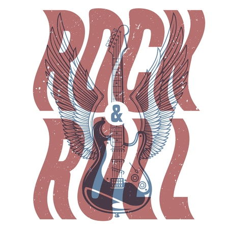 Rock and roll banner Иллюстрация