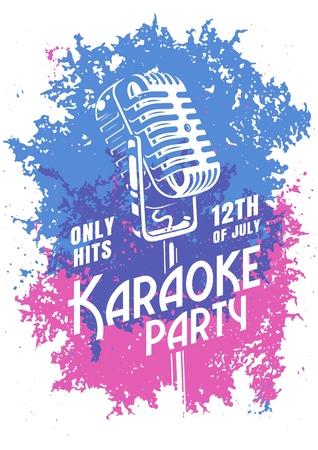 Karaoke modern poster.
