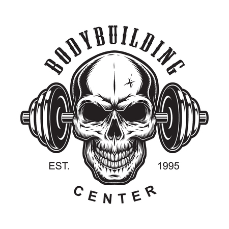 Vintage bodybuilding label concept Illustration