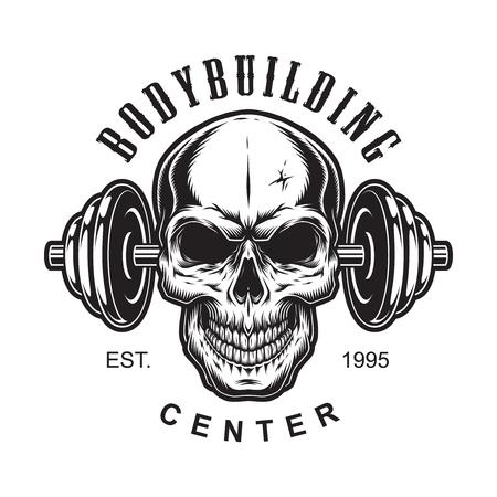 Weinlese-Bodybuilding-Etikettenkonzept