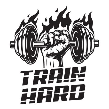 Vintage fitness emblem template