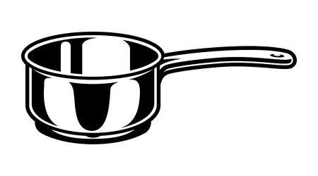 Vintage cooking saucepan concept Vettoriali