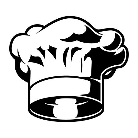 Vintage monochrome chef hat template