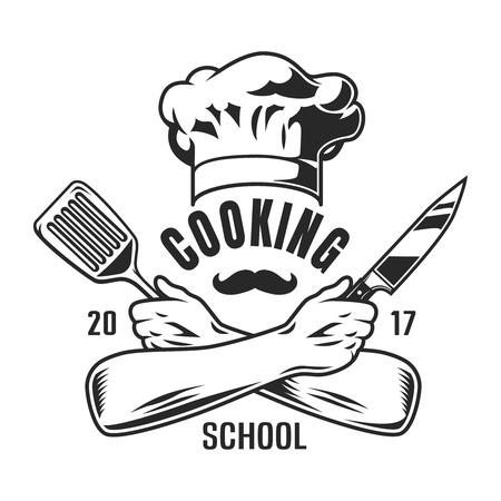 Emblema de cocina vintage Ilustración de vector
