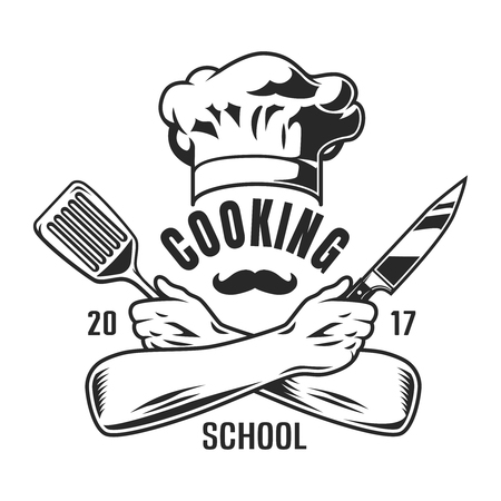 Vintage cooking emblem
