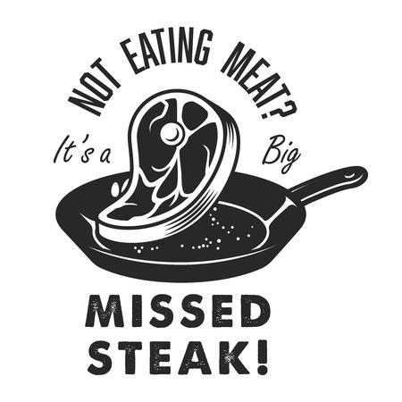 Vintage steak house  emblem Ilustração