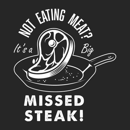 Vintage steak cooking  emblem