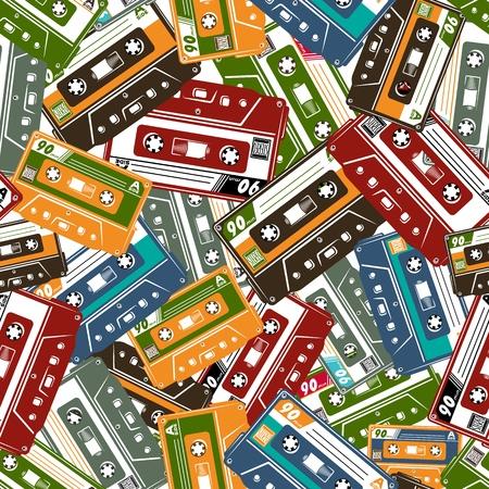 Cassette Tape Seamless pattern