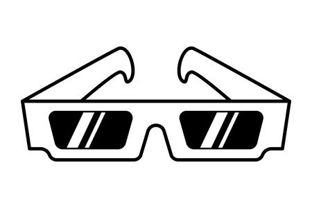 Vintage movie 3d eye glasses template Illustration