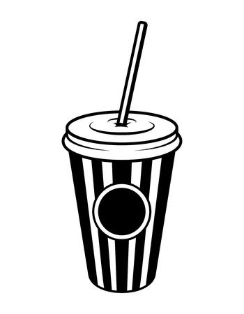 Vintage monochrome cinema soda concept