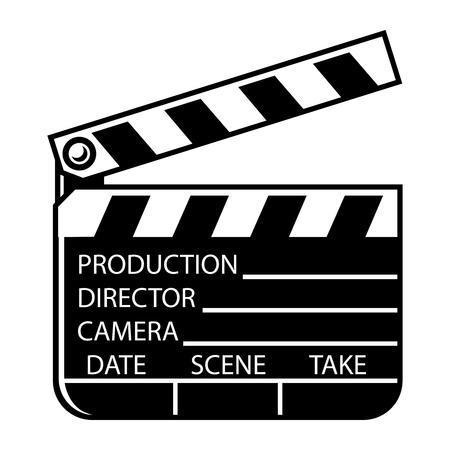Vintage monochrome movie clapperboard concept