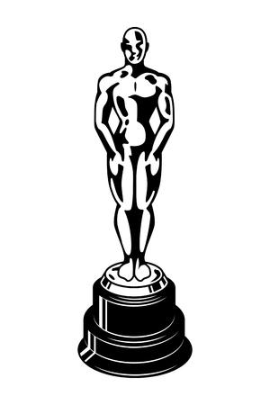 Vintage Oscar Cinema Academy Award-sjabloon Stockfoto - 102169844