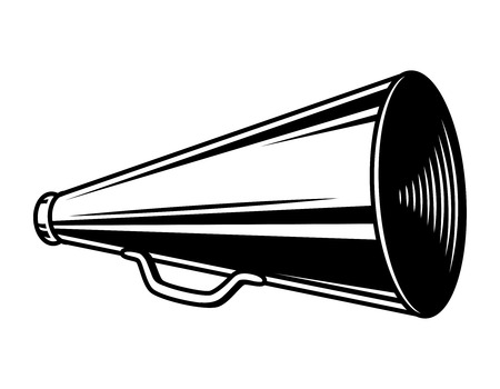 Vintage director loudspeaker concept Ilustração