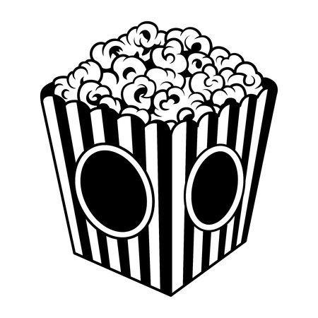 Vintage popcorn bucket box template