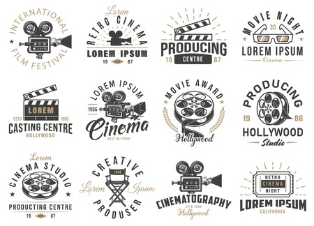 Set of cinema emblems