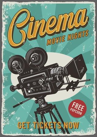 Cartel de cine vintage
