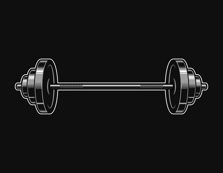 Vintage metal barbell icon Ilustrace