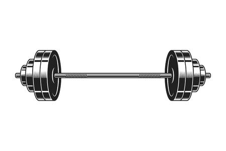 Vintage barbell voor bodybuilding icoon
