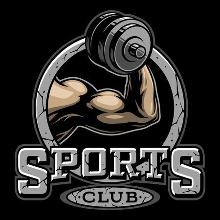 Vintage fitness club logotype