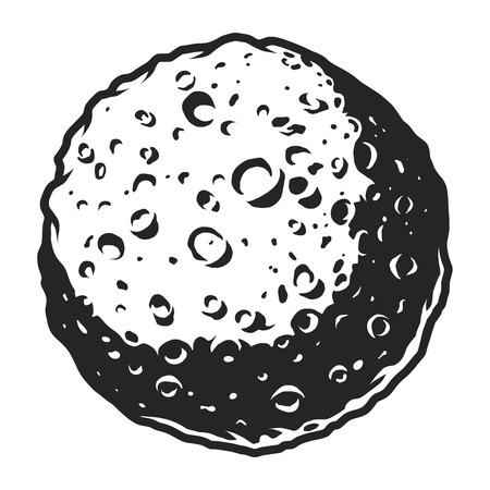 Vintage full moon template