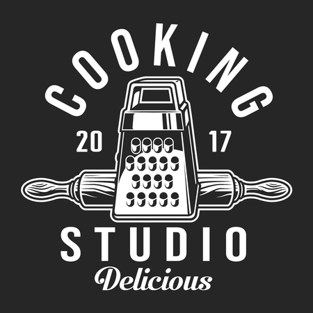 Vintage cooking label template Иллюстрация