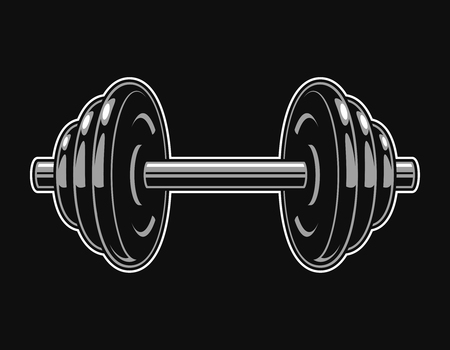 Vintage iron dumbbell template