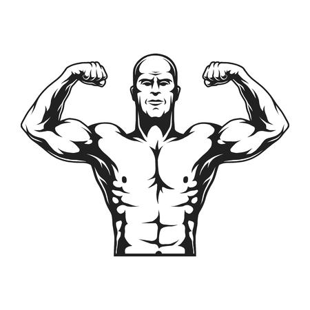 Monochrome strongman concept