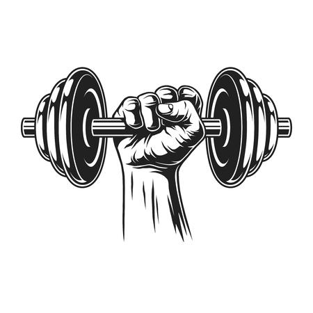 Concepto de fitness vintage Ilustración de vector