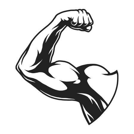 Vintage bodybuilder flex arm template Stock Vector - 102169961
