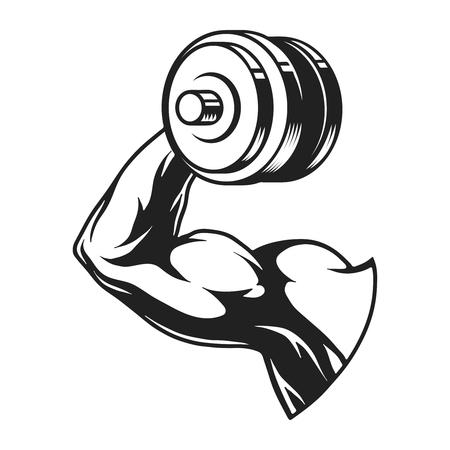 Monochrome bodybuilder biceps concept