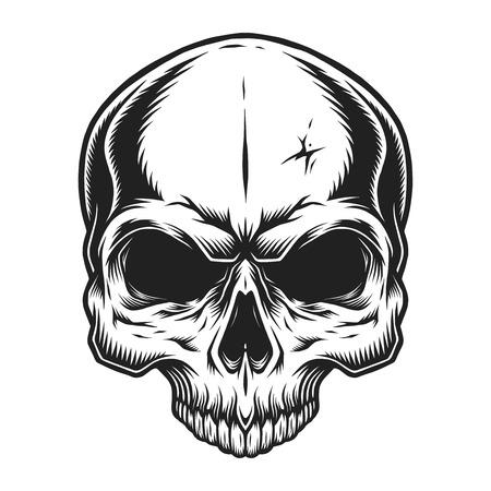 Vintage skull template