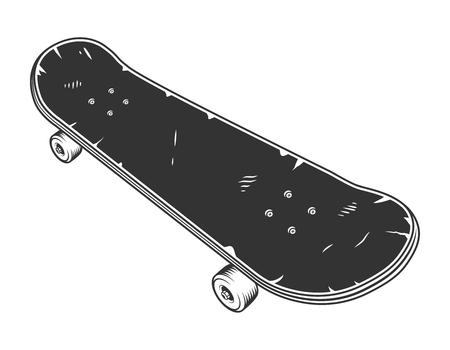 Vintage black sport skate board concept