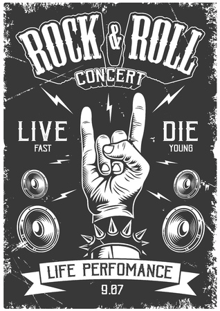 Póster de rock and roll