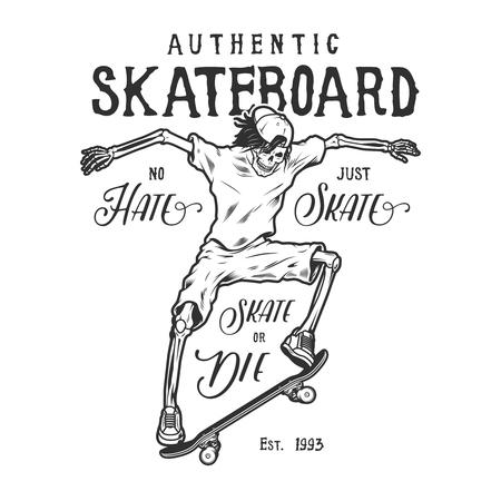 Vintage sport skateboarding logo